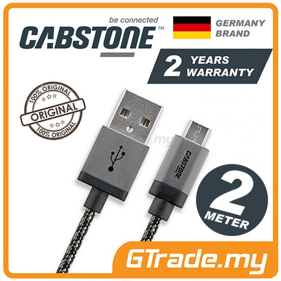 CABSTONE Metal Charger Micro USB Cable 2m *CBSTR