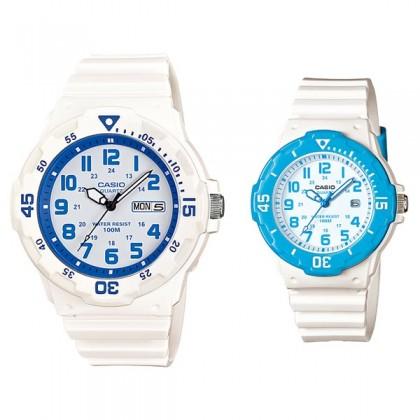 CASIO STANDARD MRW-200HC-7B2V & LRW-200H-2BV Analog Couple Watch