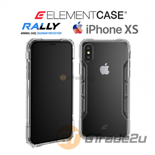 ELEMENT Case Rally High Impact Protect Case Apple iPhone Xs X Clear