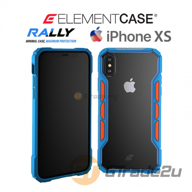 ELEMENT Case Rally High Impact Protect Case Apple iPhone Xs X Blue Orange
