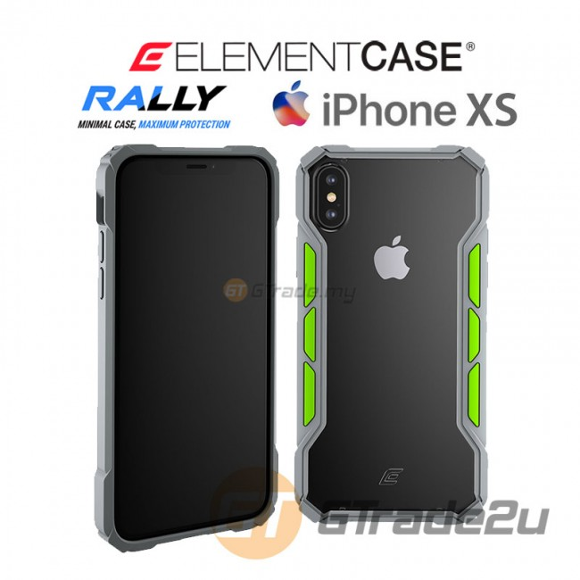 ELEMENT Case Rally High Impact Protect Case Apple iPhone Xs X Grey Lime