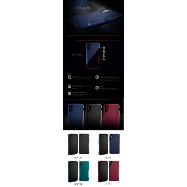 ELEMENT Case Shadow Suregrip Protect Case Apple iPhone Xs X Black