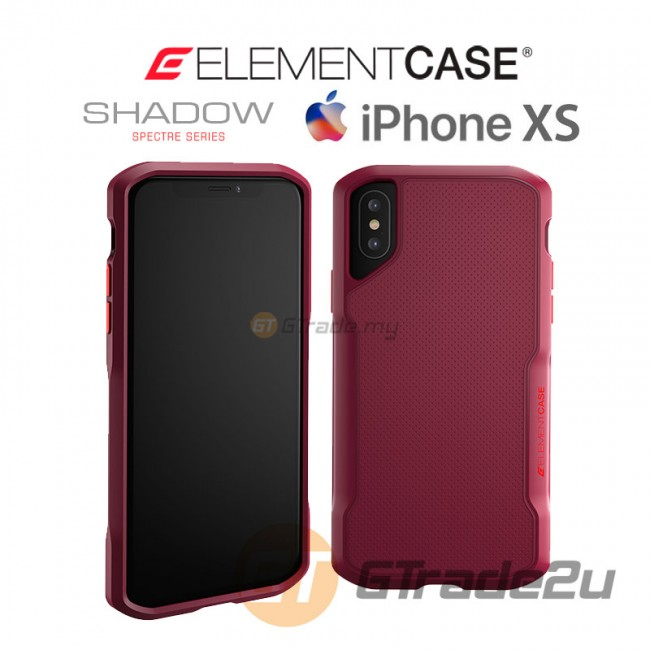 ELEMENT Case Shadow Suregrip Protect Case Apple iPhone Xs X Red