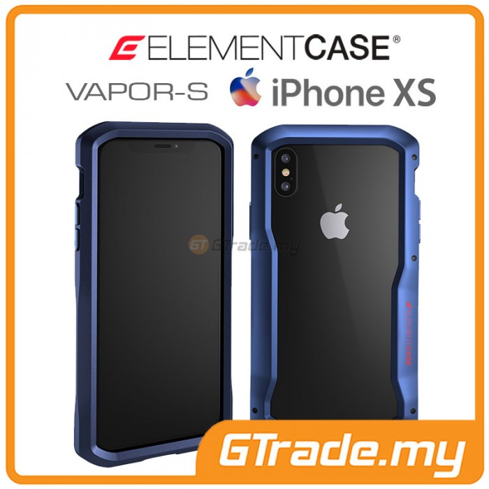 best service 434cb d4c01 ELEMENT Case Vapor S CNC Bumper Protect Case Apple iPhone Xs X Blue