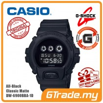 CASIO G-Shock DW-6900BBA-1D Digital Watch All-Black Classic Matte [G-ZONE]