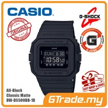 CASIO G-Shock DW-D5500BB-1D Digital Watch All-Black Classic Matte [G-ZONE]