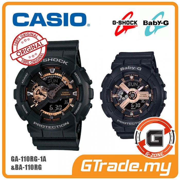3ec0e3b7c8bf CASIO G-Shock Baby-G GA-110RG-1A BA-110RG-1A Couple Watches  G-ZONE