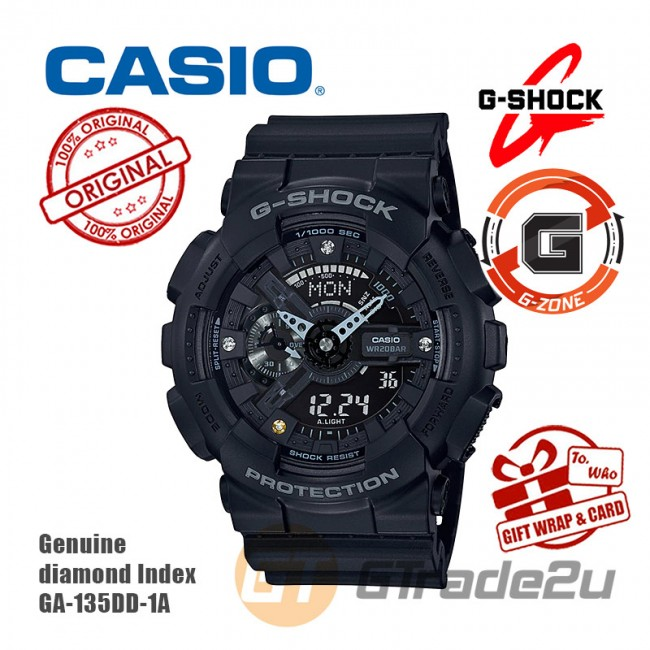 CASIO G-Shock GA-135DD-1A Analog Digital Watch Genuine Diamond Index [G-ZONE]