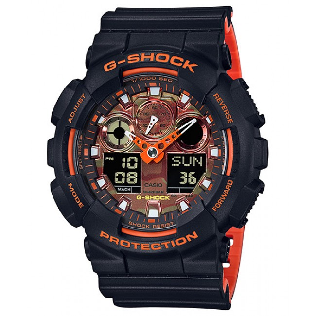 CASIO G-Shock GA-100BR-1A Digital Watch Orange Theme Color [PRE]