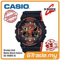 CASIO G-Shock GA-100BR-1A Digital Watch Orange Theme Color