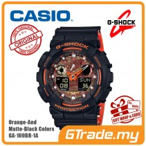 [READY STOCK] CASIO G-Shock GA-100BR-1A Digital Watch Orange Theme Color