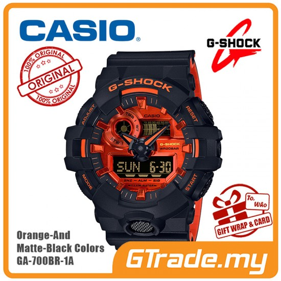 CASIO G-Shock GA-700BR-1A Digital Watch Orange Theme Color