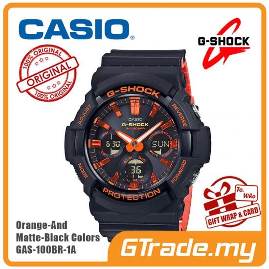 CASIO G-Shock GAS-100BR-1A Digital Watch Orange Theme Color