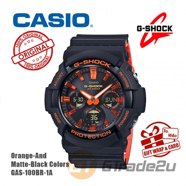 CASIO G-Shock GAS-100BR-1A Digital Watch Orange Theme Color [PRE]