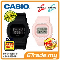 CASIO G-Shock Baby-G DW-5600BB-1D BGD-560-4D Couple Watches