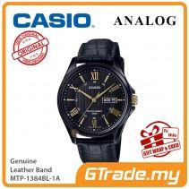 CASIO Men MTP-1384BL-1A Analog Watch Genuine Leather