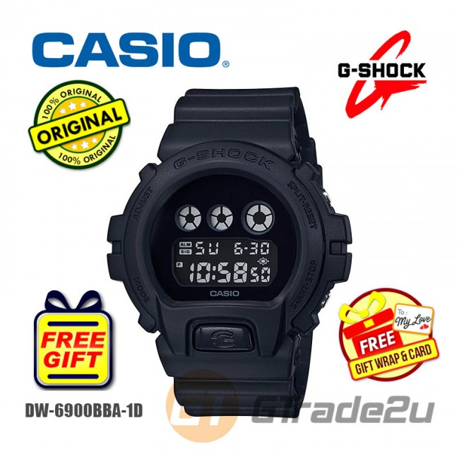 [READY STOCK] CASIO G-Shock DW-6900BBA-1D Digital Watch All-Black Classic Matte