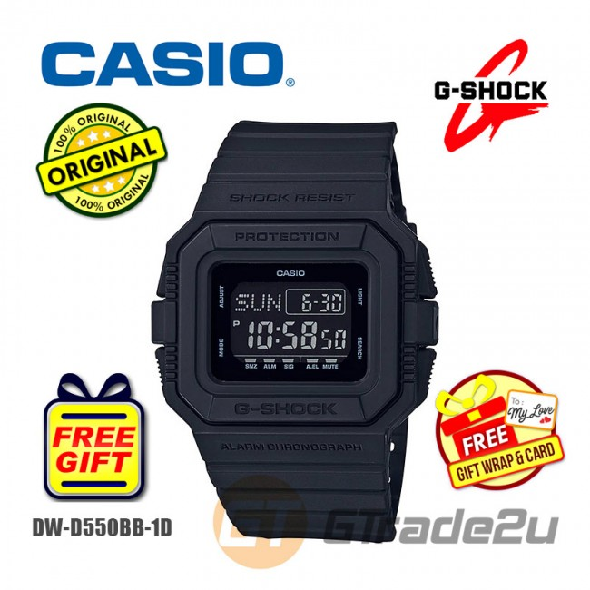 CASIO G-Shock DW-D5500BB-1D Digital Watch All-Black Classic Matte [PRE]