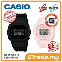 [G-ZONE] CASIO G-Shock Baby-G DW-5600BB-1D BGD-560-4D Couple Watches