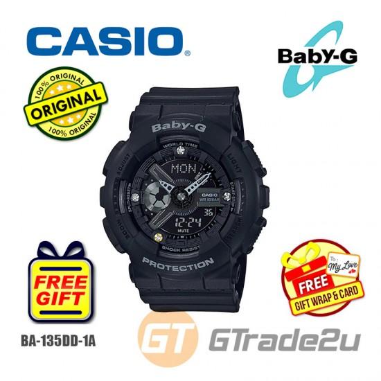 [READY STOCK] CASIO Baby-G BA-135DD-1A Analog Digital Watch Genuine Diamond