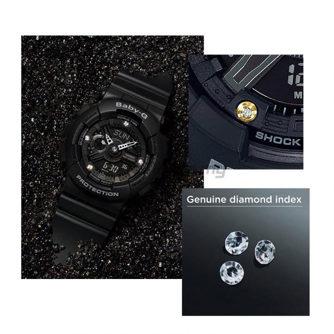 [G-ZONE] CASIO Baby-G BA-135DD-1A Analog Digital Watch Genuine Diamond