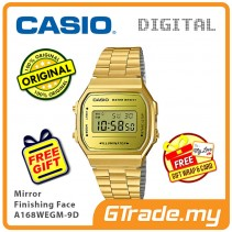 CASIO Men A168WEGM-9D Digital Watch Mirror Finishing Face [PRE]