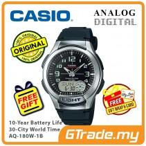 CASIO Men AQ-180W-1B Analog Digital Watch 10 Yrs Battery [PRE]