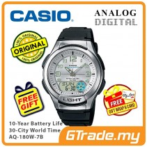CASIO Men AQ-180W-7B Analog Digital Watch 10 Yrs Battery [PRE]