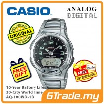 CASIO Men AQ-180WD-1B Analog Digital Watch 10 Yrs Battery [PRE]
