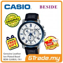 CASIO Beside BEM-520BUL-7A1 Chronograph Watch Genuine Leather [PRE]