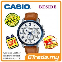 CASIO Beside BEM-520BUL-7A2 Chronograph Watch Genuine Leather [PRE]