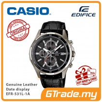 CASIO Edifice EFR-531L-1A Men Chronograph Watch Genuine Leather [PRE]