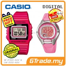 CASIO STANDARD W-215H-4AV & LW-200-4BV Digital Couple Watch