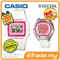 CASIO STANDARD W-215H-7A2V & LW-200-7AV Digital Couple Watch