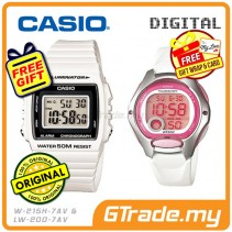 CASIO STANDARD W-215H-7AV & LW-200-7AV Digital Couple Watch