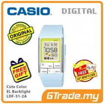CASIO Poptone LDF-51-2A Kids Women Digital Watch Cute Color [PRE]