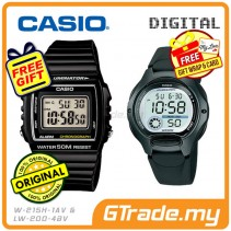 CASIO STANDARD W-215H-1AV & LW-200-1BV Digital Couple Watch