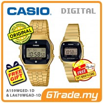 CASIO Couple A159WGED-1D & LA670WGAD-1D Digital Watches Natural diamonds [PRE]