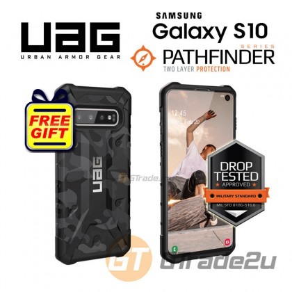 UAG Urban Armor Gear Pathfinder Tough Case | Samsung Galaxy S10 Midnight *Free Gift