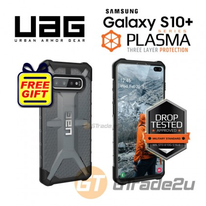 UAG Urban Armor Gear Plasma Tough Case | Samsung Galaxy S10 Plus Ash *Free Gift