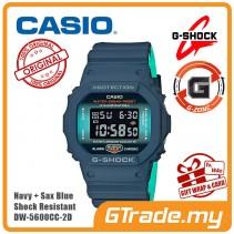 [G-ZONE] CASIO G-Shock DW-5600CC-2D Men Digital Watch Navy + Sax Blue