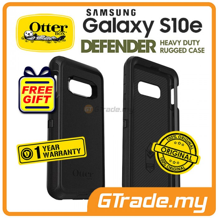 buy online 8f8cc 05b75 OTTERBOX Defender Rugged Case Samsung Galaxy S10e Black *Free Gift