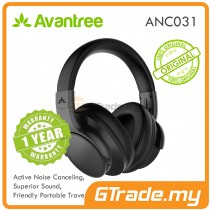 AVANTREE Wireless Bluetooth Headset Headphone Noise Cancelling ANC032