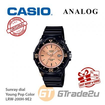 CASIO Women Kids LRW-200H-9E2 Analog Watch Young Pop Color [READY STOCK] Watch For Women