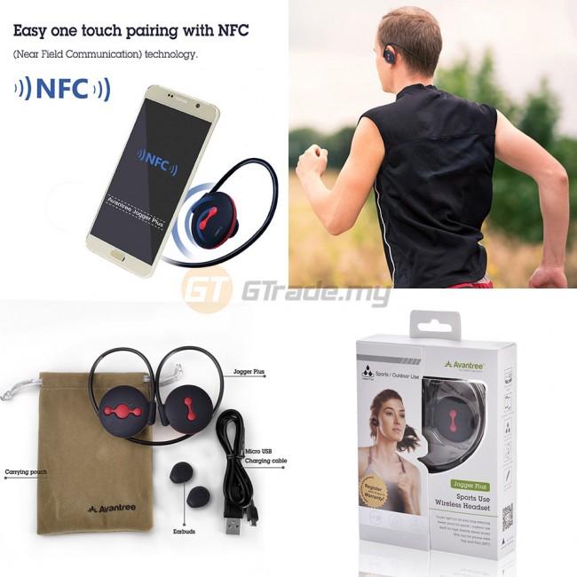 AVANTREE Wireless Bluetooth Headset Sports Running Jogger Plus