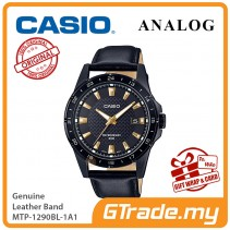 CASIO Men MTP-1290BL-1A1 Analog Watch Genuine leather band [PRE]