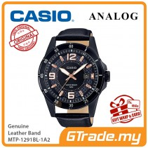 CASIO Men MTP-1291BL-1A2 Analog Watch Genuine leather band [PRE]