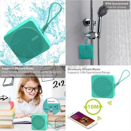 AVANTREE Outdoor Waterproof Bluetooth Speaker SP950 Micro SD Card Green