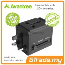 AVANTREE International World Wide Travel Adapter USB Charger 2A 150+ Countries