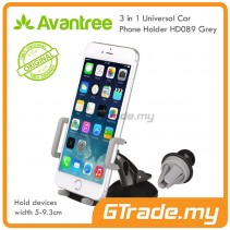 Avantree 3 in 1 Universal Car Phone Holder HD089 GY hold devices width 5-9.3cm